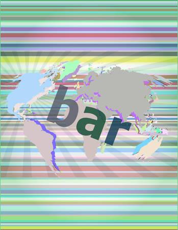 hitech: bar, hi-tech background, digital business touch screen vector illustration Illustration