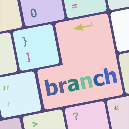 keyboard key: branch word on keyboard key vector illustration