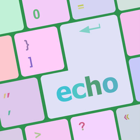 echo: keyboard key with echo button vector illustration Illustration