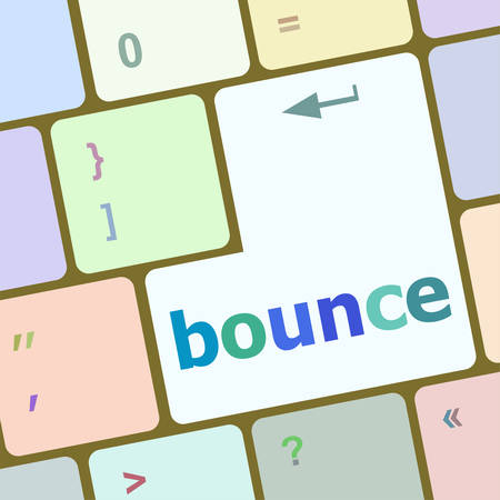 bounce: bounce button on computer pc keyboard key vector illustration Illustration
