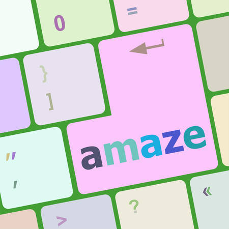 electronic voting: amaze Button on Modern Computer Keyboard key vector illustration
