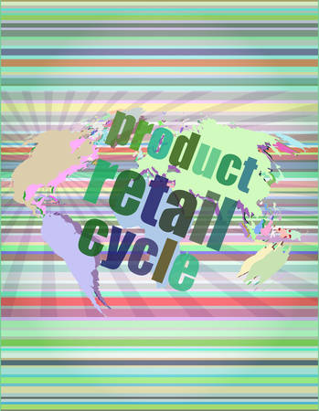 touch screen interface: product retail cycle - digital touch screen interface vector illustration Illustration