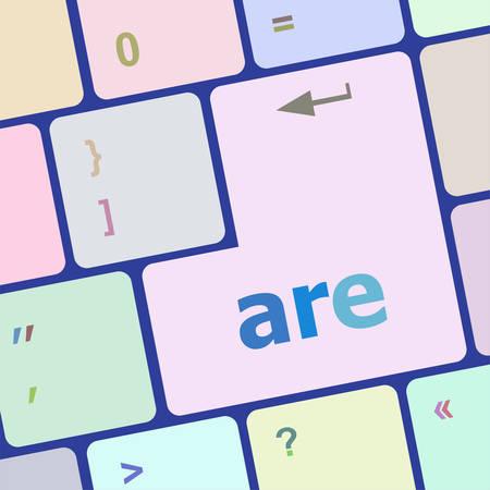 socialise: are word on computer keyboard key vector illustration Illustration