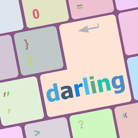 backspace: darling button on computer pc keyboard key vector illustration Illustration