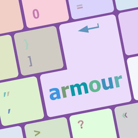 armour: Keyboard with enter button, armour word on it vector illustration Illustration