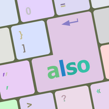 escape key: Computer keyboard button with also word on it vector illustration