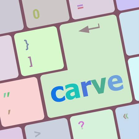 carve: carve button on computer pc keyboard key vector illustration Illustration