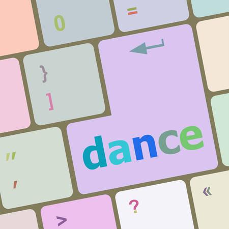 backspace: dance button on computer pc keyboard key vector illustration Illustration