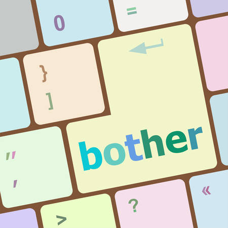 economic recovery: bother button on computer pc keyboard key vector illustration