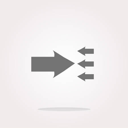 satined: vector arrow icon web button isolated on white. Web Icon Art. Graphic Icon Drawing