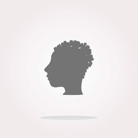 wen: vector idea people head circle glossy wen icon. Web Icon Art. Graphic Icon Drawing