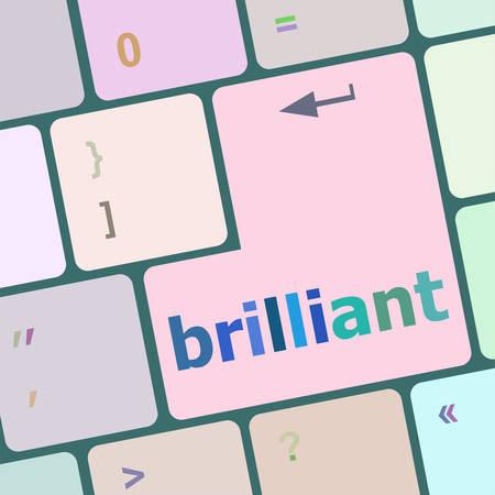 keyboard key: brilliant word on keyboard key vector illustration