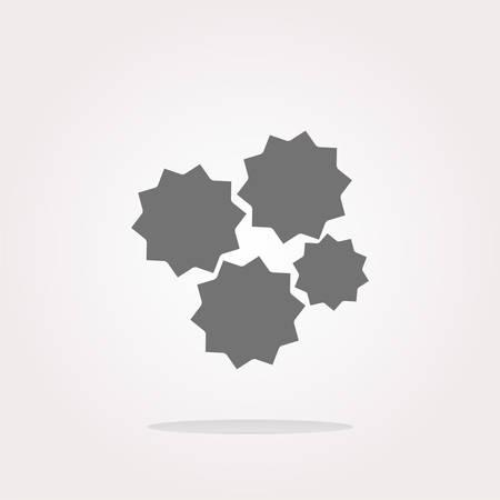 cog wheel: Cog wheel Icon Vector. Illustration