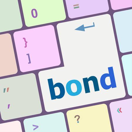 bond: bond button on computer pc keyboard key vector illustration Illustration