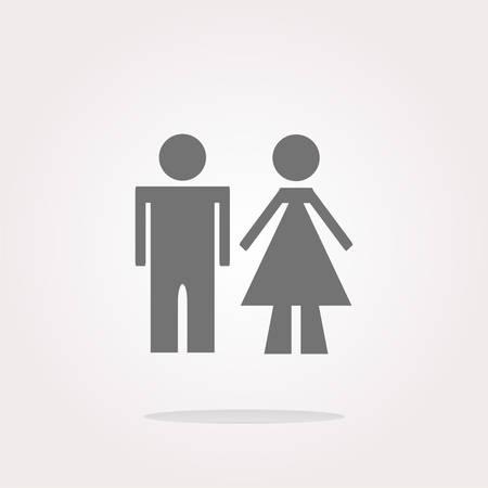 wc: WC Icon. WC Icon Vector. WC Icon Art.
