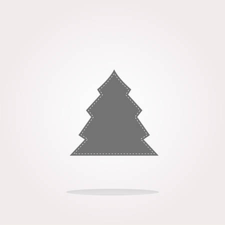 icey: vector button with christmas tree on it. Web Icon Art. Graphic Icon Drawing