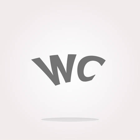 wc: vector wc icon, web button isolated on white