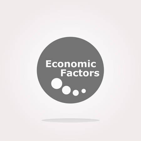 factors: vector economic factors web button, icon isolated on white