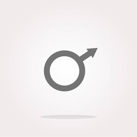 homosexual sex: vector sex web glossy icon, web button isolated on white Illustration