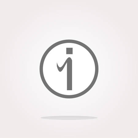 inet: vector glossy web button with information sign. Rounded shape icon Illustration