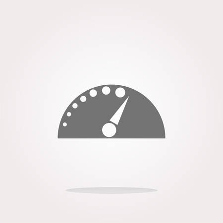 vector automotive tachometer on web button (icon) isolated on white