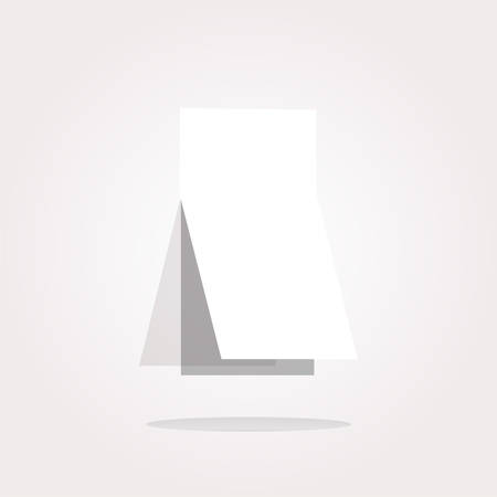 curled corner: vector Blank sticker with curled corner on web icon (button)