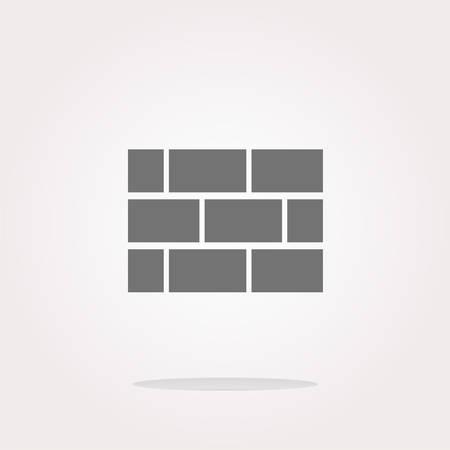 vector stone wall icon button