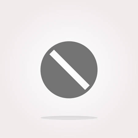not allowed: vector not allowed sign web icon, button isolated on white