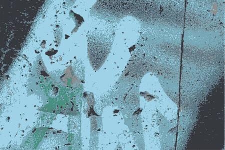 paint wall: old paint wall vector illustration Illustration
