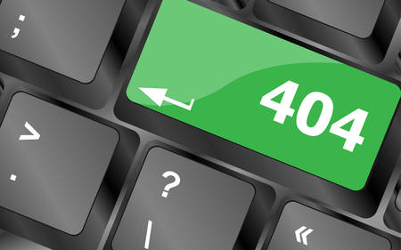 find fault: 404 code button on keyboard keys. Keyboard keys icon button vector Illustration