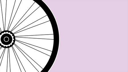 motoring: vector silhouette of a bicycle wheel with tyre and spokes