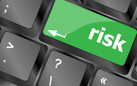 exchange loss: risk management keyboard key showing business insurance concept. Keyboard keys icon button vector