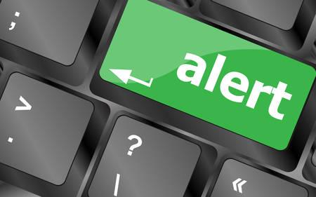 keyboard keys: Computer keyboard with attention key alert - business background. Keyboard keys icon button vector