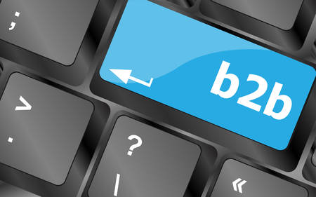 keyboard keys: word b2b on digital keyboard key. Keyboard keys icon button vector