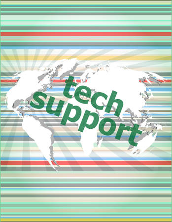 new generation: tech support text on digital touch screen - business concept vector illustration