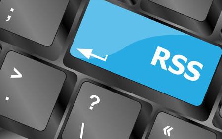 inet symbol: RSS button on keyboard key close-up. Keyboard keys icon button vector. Keyboard Icon, Keyboard Icon Vector, Keyboard Icon Art, Keyboard Icon App Illustration
