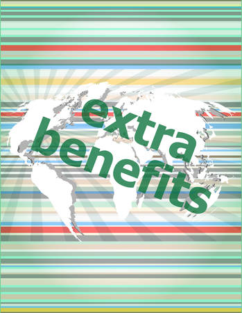 flexible business: extra benefits slogan poster concept. Financial support message design vector illustration