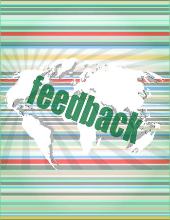 it technology: Information technology IT concept: words Feedback on digital screen vector illustration Illustration