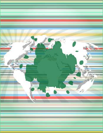 blots: blots on digital touch screen, digital background vector illustration Illustration