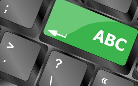 computer keyboard with abc button - social concept. Keyboard keys icon button vector