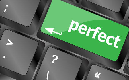 computer key: perfect, keyboard with computer key button. Keyboard keys icon button vector