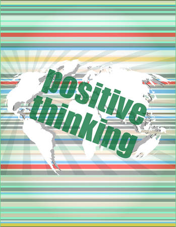 smart goals: positive thinking on screen - motivation business concept vector quotation marks with thin line speech bubble. concept of citation, info, testimonials, notice, textbox. flat style