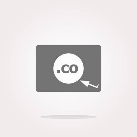 co: Domain CO sign icon. Top-level internet domain symbol. web Icon Vector. vector icon. vector button