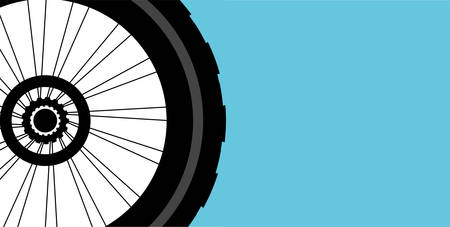motoring: vector silhouette of a bicycle wheel Illustration