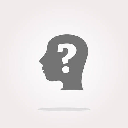 unsolvable: question mark on human head icon vector, question mark on human head icon, question mark on human head icon picture, question mark on human head icon flat, question mark on human head icon Illustration