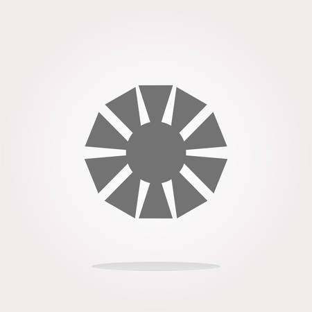 objective: vector Camera objective icon (symbol) Illustration