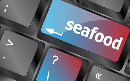 keyboard keys: keyboard key layout with sea food button vector, keyboard keys, keyboard button