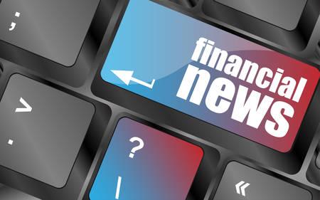 financière bouton nouvelles sur le vecteur de clavier d'ordinateur, les touches du clavier, touche du clavier