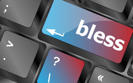 bless: bless text on computer keyboard key - business concept vector, keyboard keys, keyboard button
