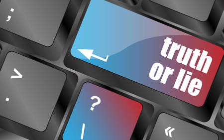 to lie: truth or lie button on computer keyboard key vector, keyboard keys, keyboard button
